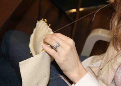hand-stitching